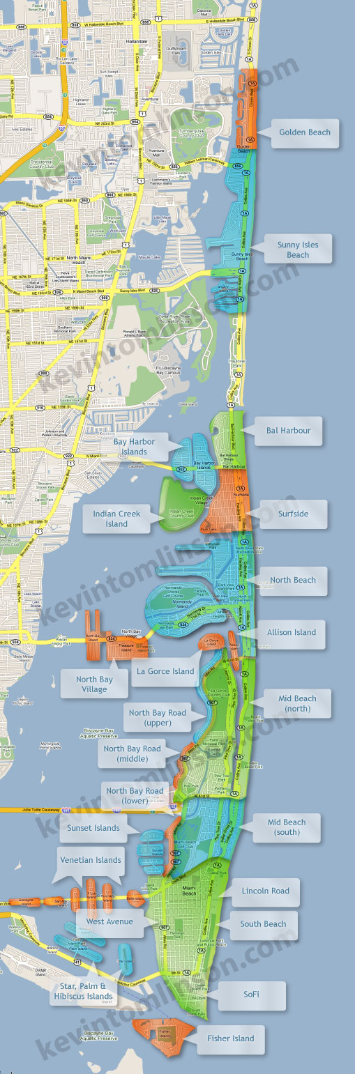 Miami Beach Neighborhoods Dmaps Pinterest