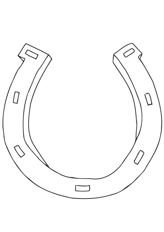 Coloring Page Horseshoe Img 21699 Coloring Pages Horse Coloring Pages Crayola Coloring Pages