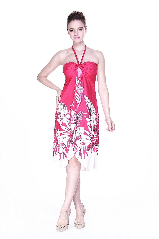b1c993e440d Women s Hawaiian Waterfall Vertical Ruffle Dress - CR11NSOFSGD in ...