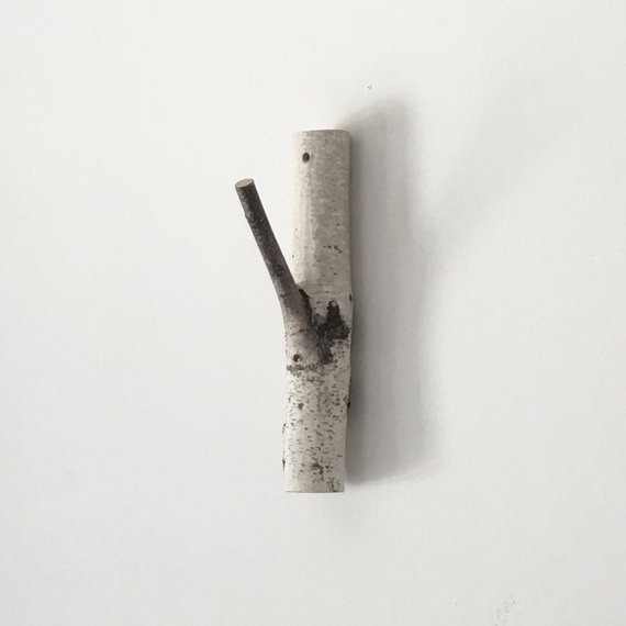 Large White Birch Tree Coat Hanger Coat Rack Branch Wall Hooks Rustic Wooden Coat Hooks Coat Rack Bir Wooden Coat Hooks White Birch Trees Forest Wall Art
