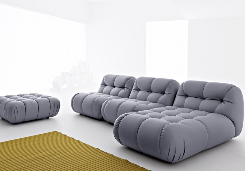 Design Sofa gepolstert modul elemente sessel hocker mimo design