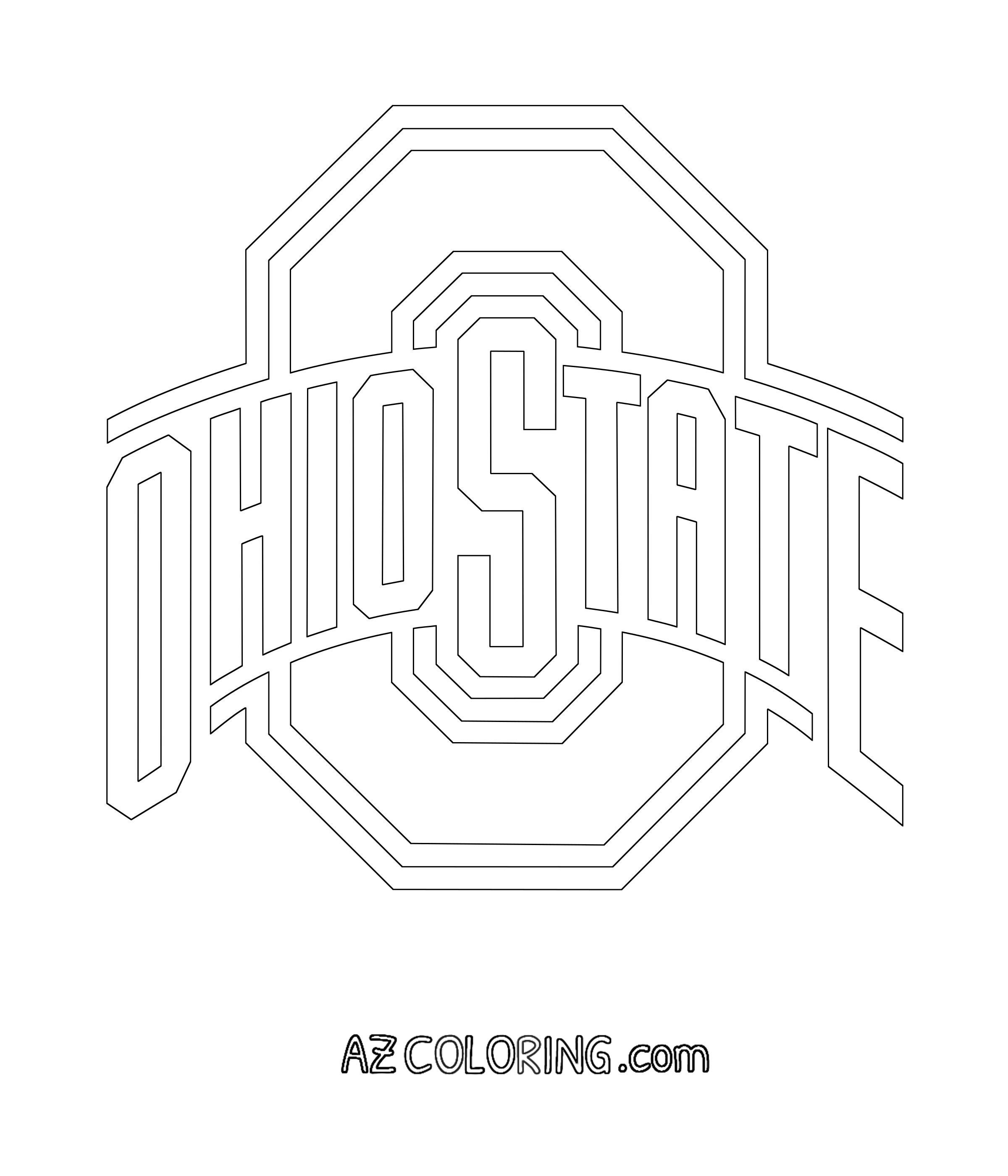 Ohio State Buckeyes Brutus Coloring Pages #ohiostatebuckeyes #brutus #buckeyes #coloring #ohio #pages #state #2020