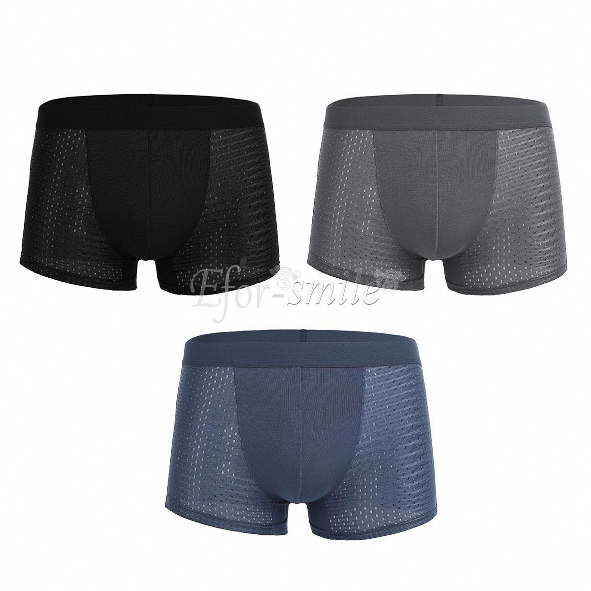 04969b1d90df18 Boxer Men Briefs Shorts Underwear Ice Silk Trunks Bulge Pouch Bikini  Underpants #ebay #Fashion #silkboxershorts