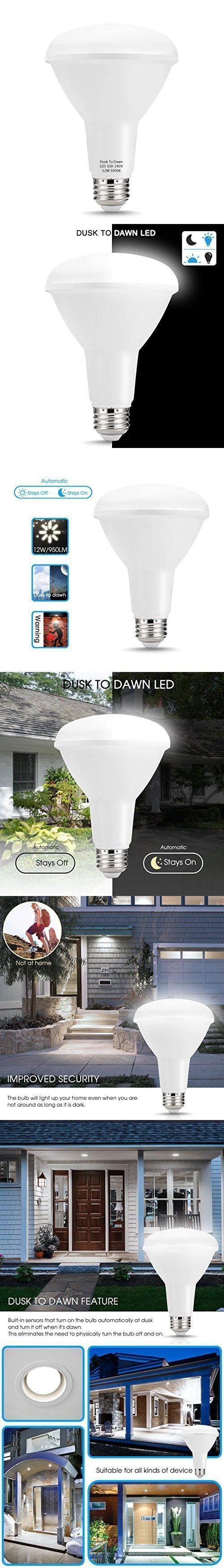 Techgomade Br30 Led Flood Light Dusk To Dawn Sensor Light Bulbs E26 Base Led Bul Base Br30 Bul Bulbs Dawn Dusk E26 Flood Led Light