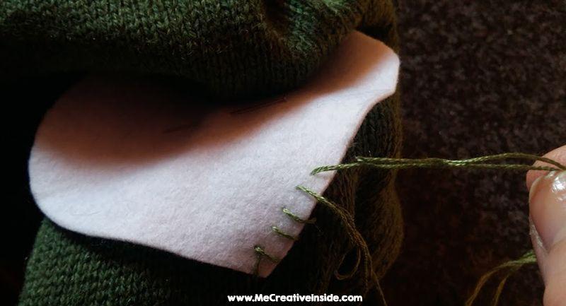 Toppa di Pannolenci cuore maglione buco pantaloni jeans Me CreativeInside
