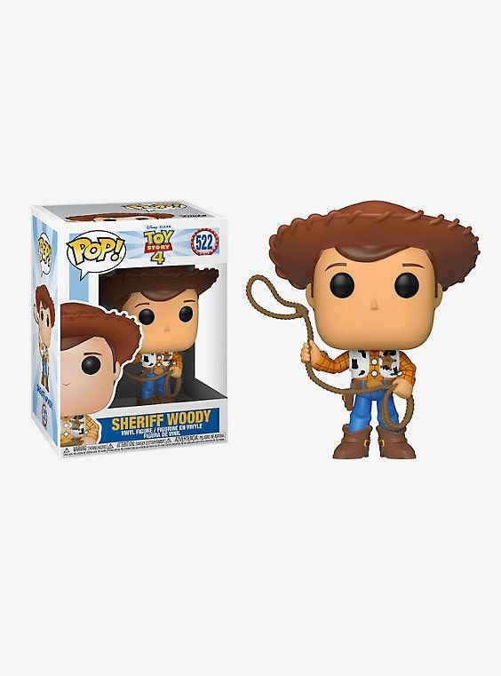 Funko Pop! Disney Pixar Toy Story 4 Woody Vinyl Figure,