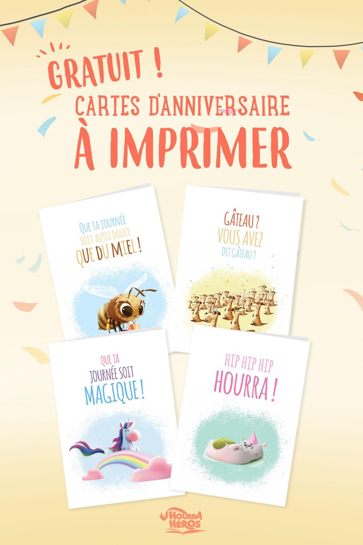 Des Cartes D Anniversaire Adorables Carte Anniversaire A Imprimer Carte Anniversaire Idee Carte Anniversaire