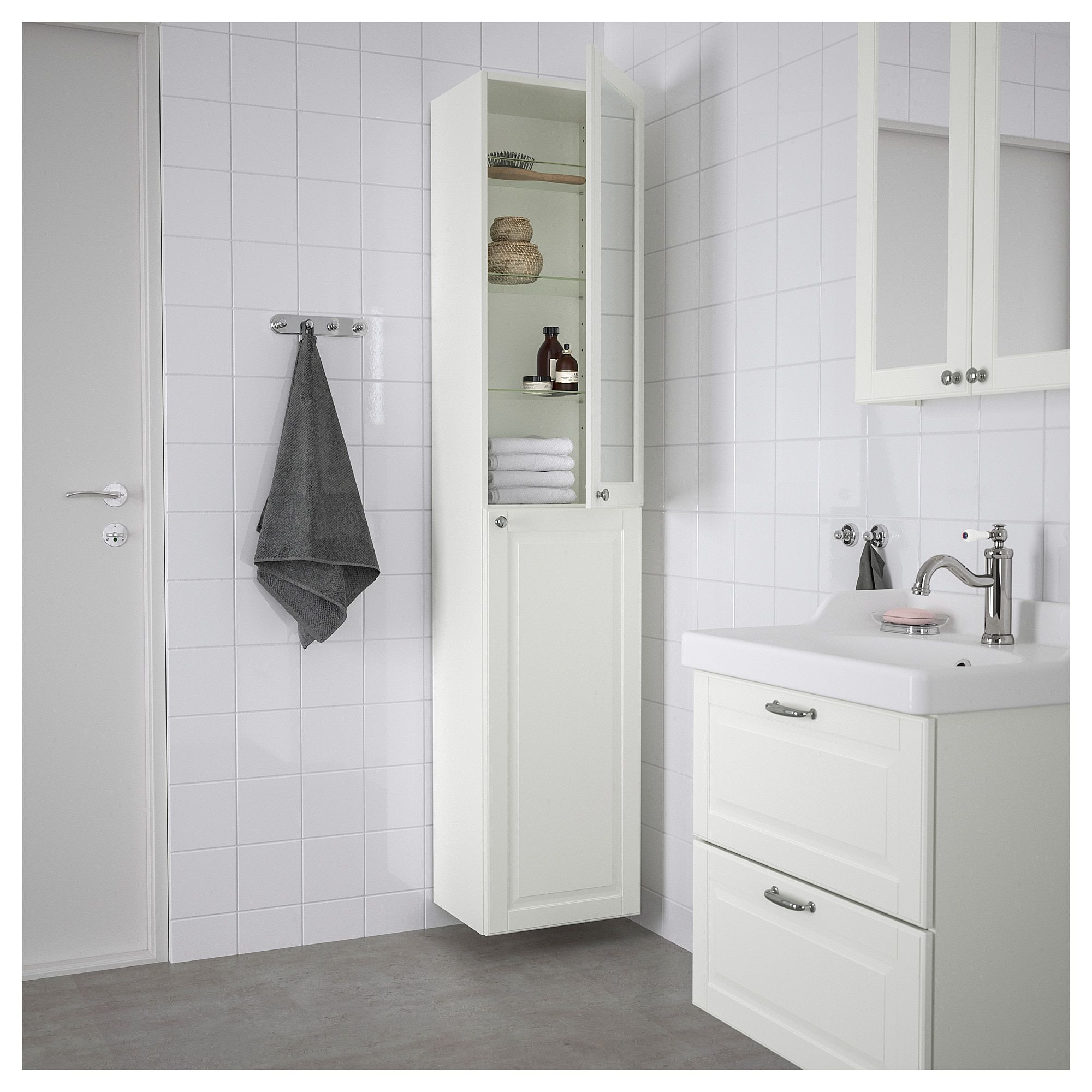 Godmorgon High Cabinet Kasjon White Ikea Ikea Godmorgon White Bathroom Storage Ikea Storage Cabinets