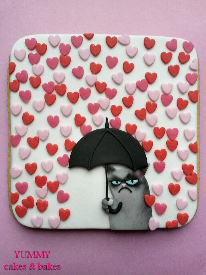 grumpy cat cookie more on cats get ozzi cat magazine here - Grumpy Cat Valentine