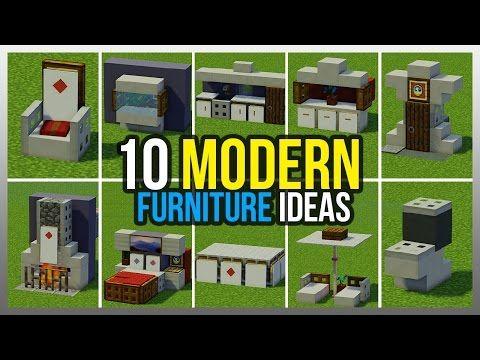 Minecraft Modern House Furniture Ideas | Homeminimalis.com