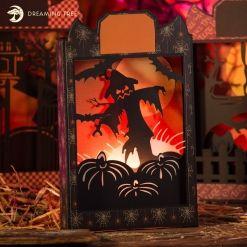 Scarecrow Halloween Box Card SVG File