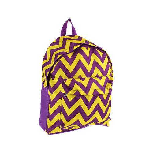 Purple and Yellow Chevron Backpack #Unbranded #BackpackStyle