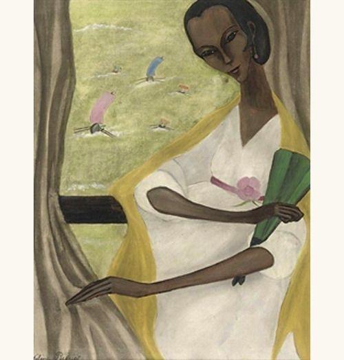'Woman with fan', 1930 - Hélène Perdriat (1894–1969)