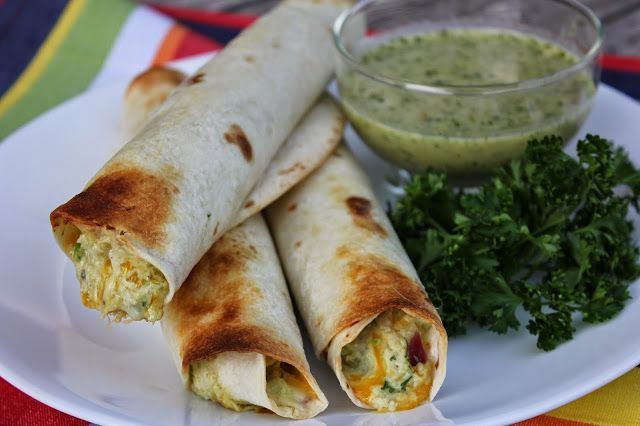 Chicken Avocado Taquitos with Honey Lime Cilantro Dipping Sauce {Meal under $10} by Deals to Meals