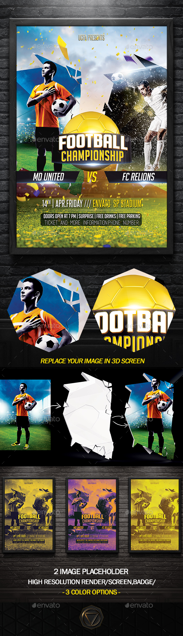 Soccer Flyer Template Psd Download Here HttpGraphicriverNet