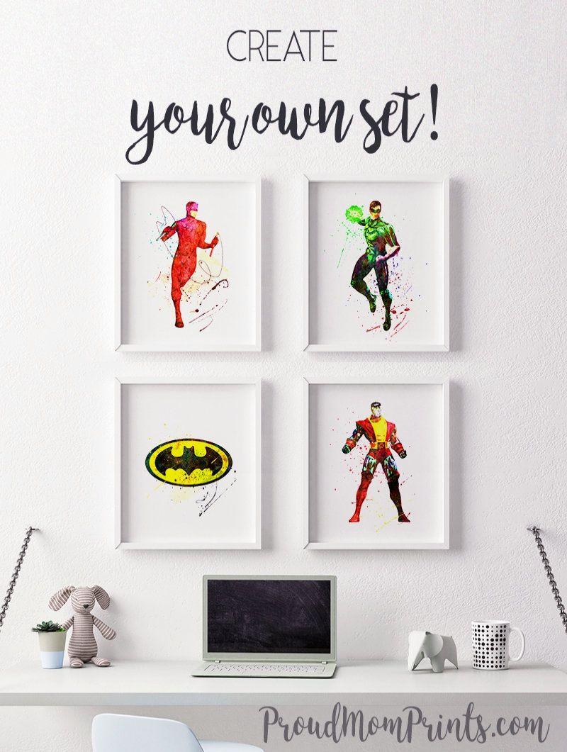 Daredevil wall art marvel marvel watercolor marvel watercolor superhero nursery marvel watercolor daredevil printable