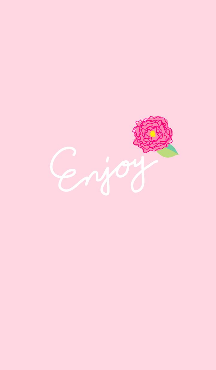 Enjoy A Flower Dances In A Pretty Pink Background Pink Wallpaper Backgrounds Pink Background Flower Dance
