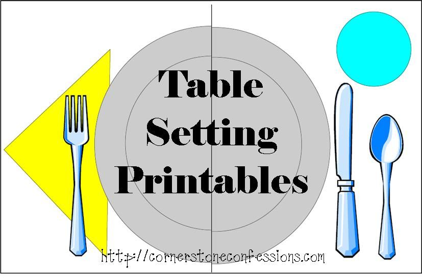 Free Table Setting Placemat Printables | Placemat, Practical life ...
