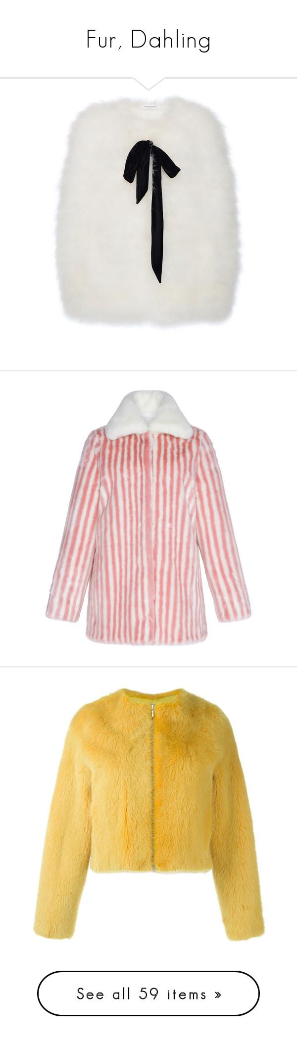 """Fur, Dahling"" by carolines-closet ❤ liked on Polyvore featuring outerwear, cape, coats, fur cape, cape coat, fur cape coat, pink, marco de vincenzo, fake fur coats and pink faux fur coat"