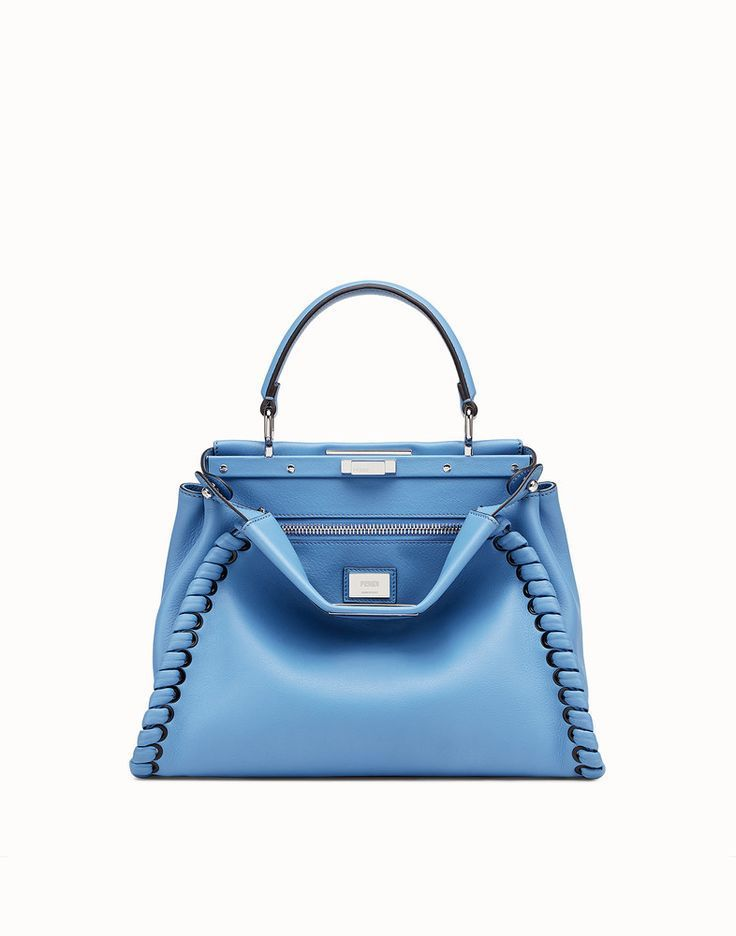 5e7f859aba FENDI PEEKABOO REGULAR - Light blue leather mini-bag - Pre-order now!  fendi   blue  peekaboo