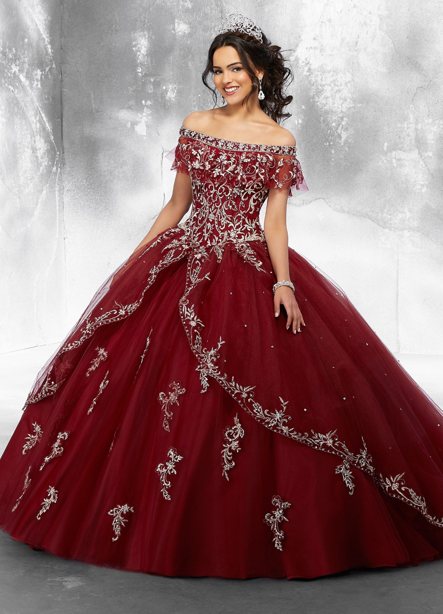 95b79e7ef262 Embroidered Off Shoulder Quinceanera Dress by Mori Lee Vizcaya 89181