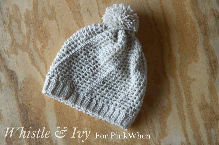 Diagonal Hatch Slouchy Hat Free Crochet Pattern   Para bebés, Gorros ...