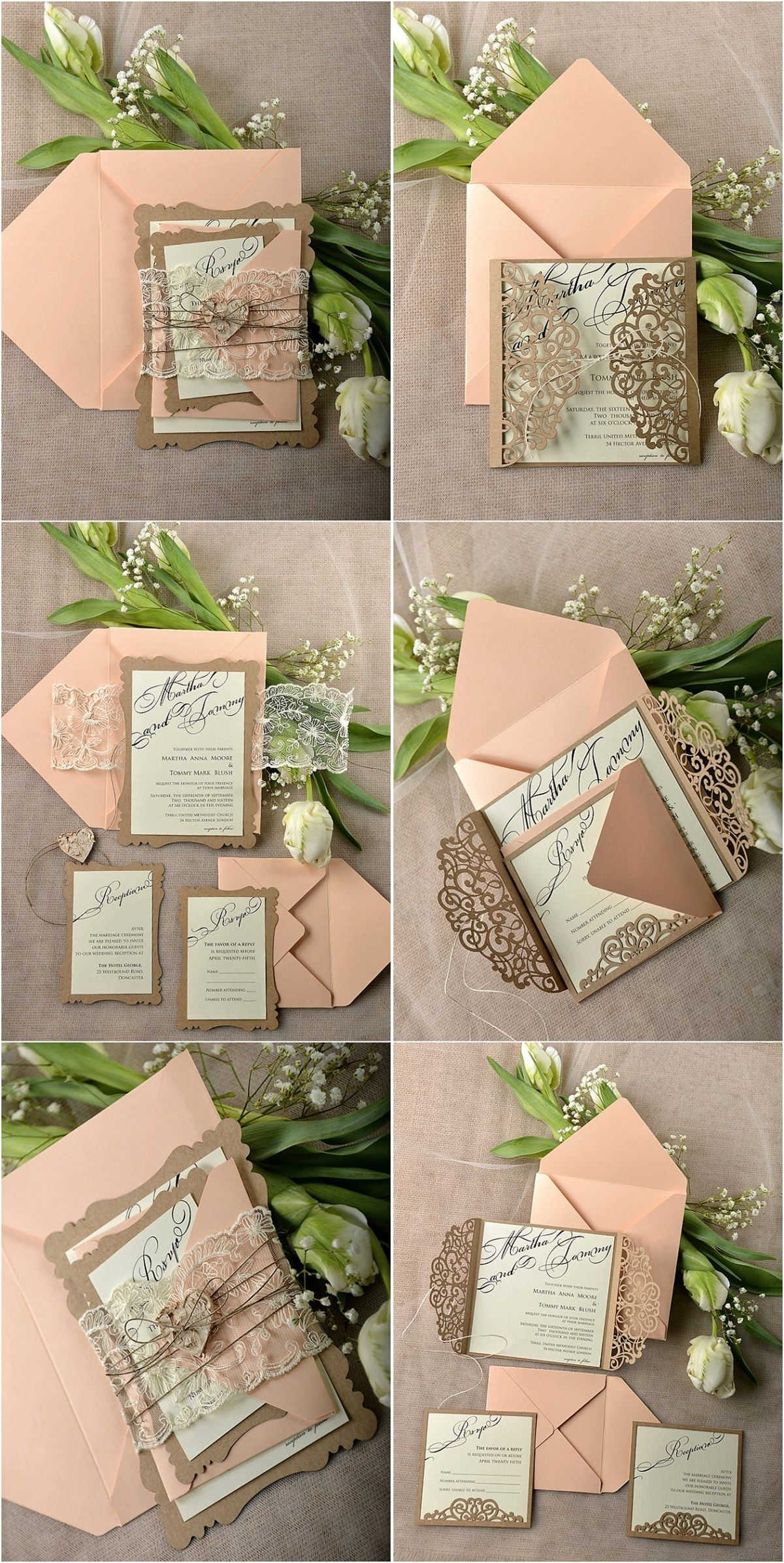 30 Our Absolutely Favorite Rustic Wedding Invitations Laser Cut