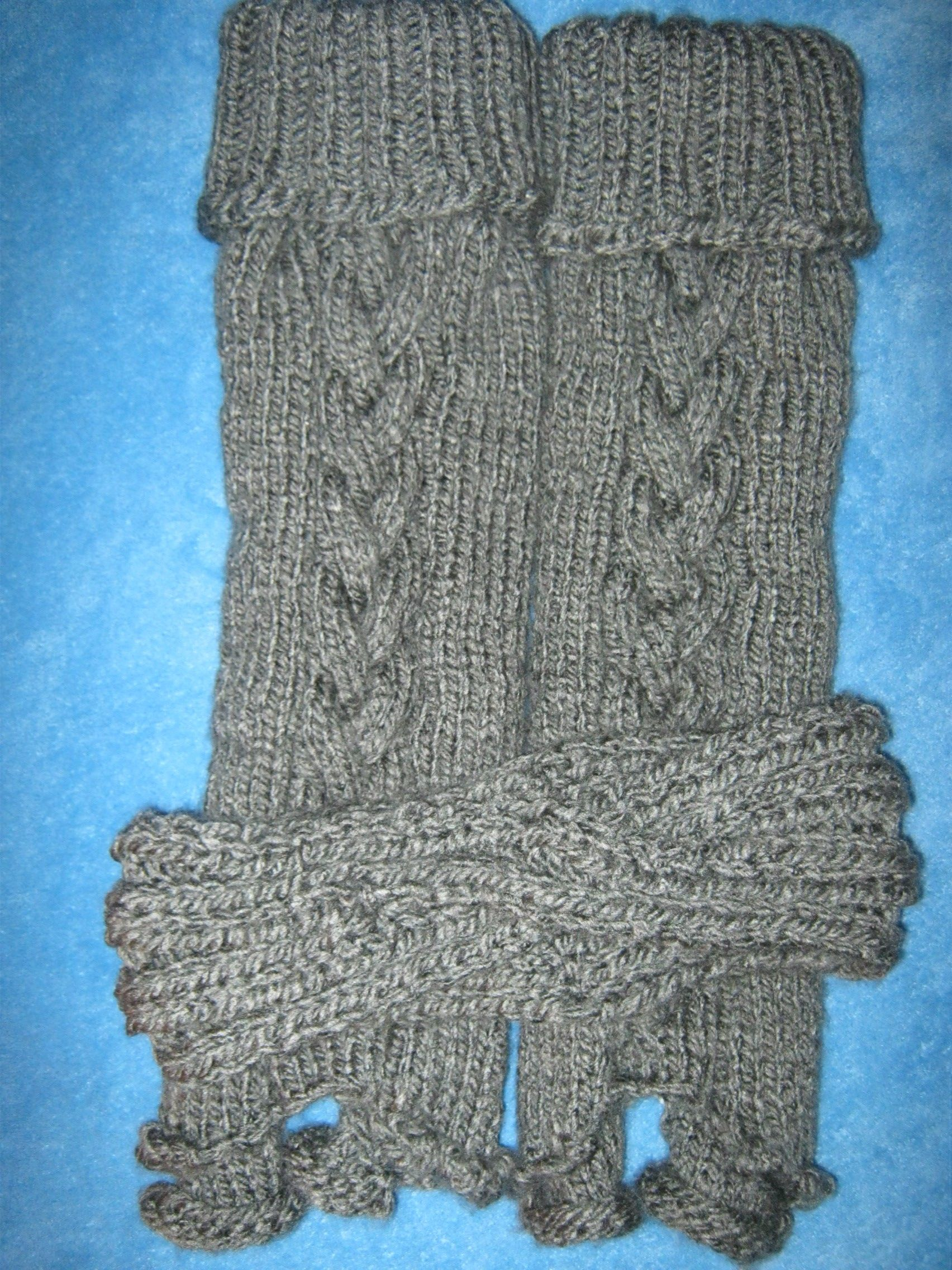 Legwarmers and headband.  Matching fingerless gloves not shown.