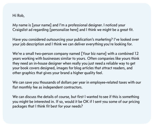 image result for cold email template for job business callmeceo