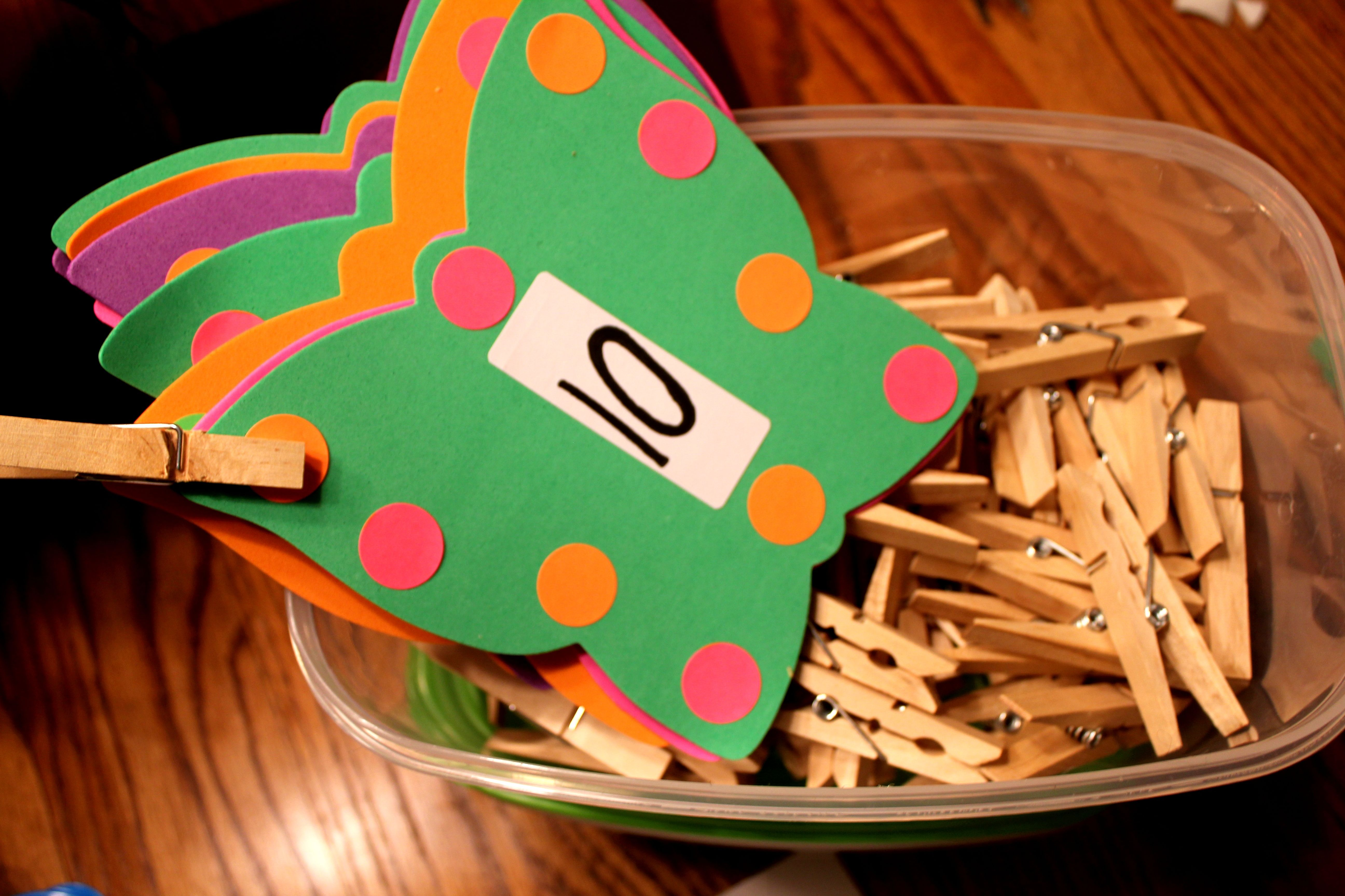 Diy Butterfly Counting Cards