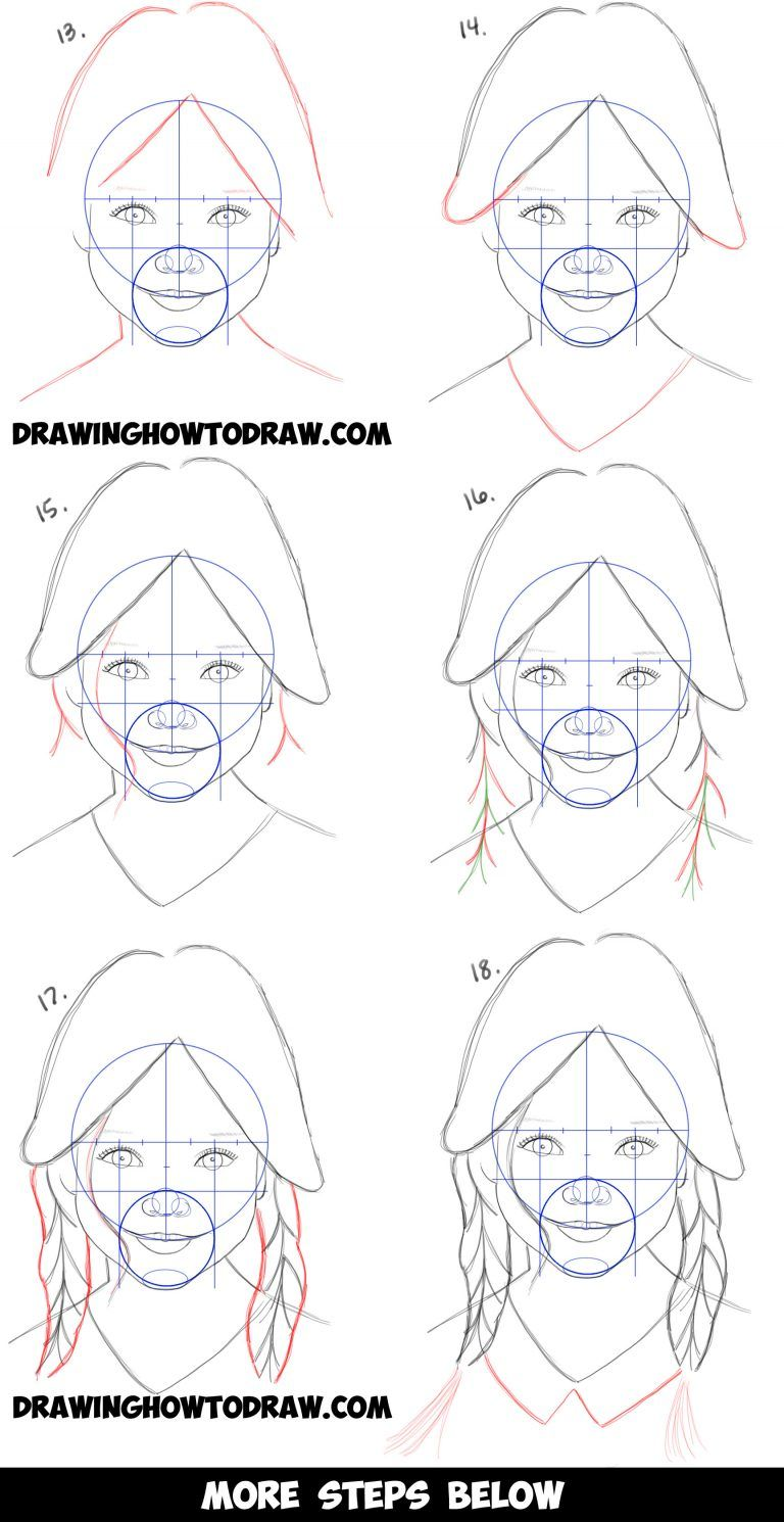How To Draw A Realistic Cute Little Girl S Face Head Step By Step Drawing Tutorial For Beginners How To Draw Step By Step Drawing Tutorials Drawing Tutorials For Beginners Drawing Tutorial