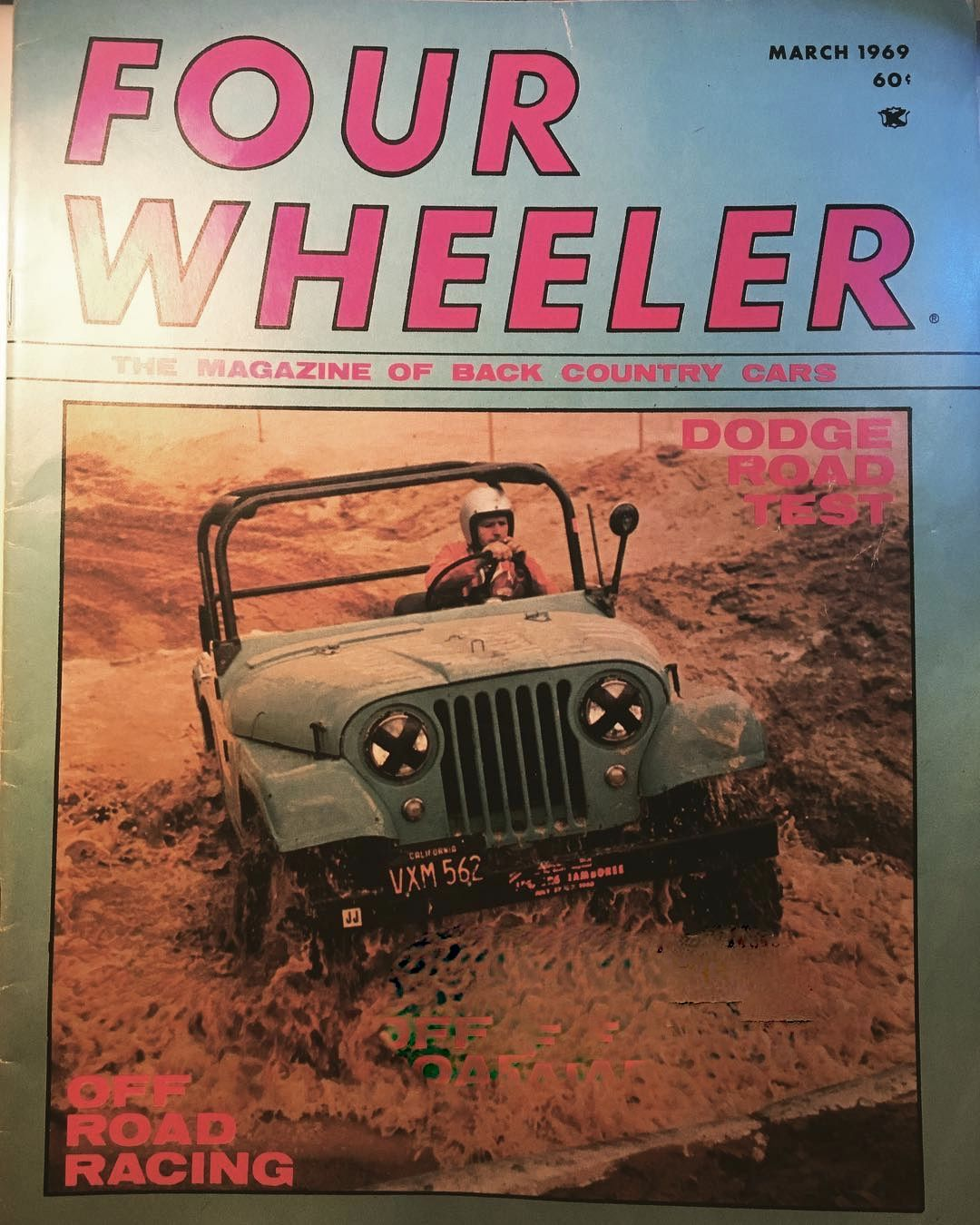 1969 4 Wheeler Magazine Art Archer Winning The Riverside Grand Prix Jeep Race Jeep Parts Jeep 4 Wheeler