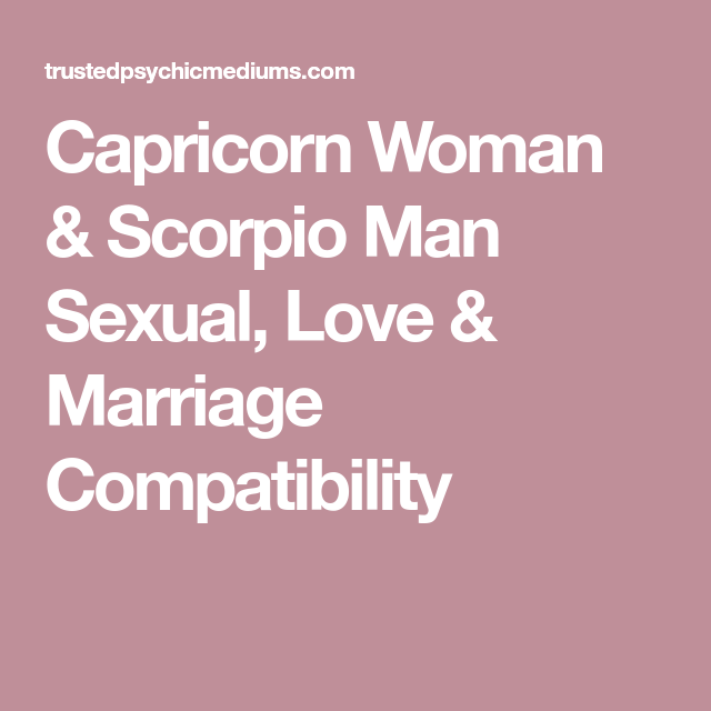 Capricorn and marriage
