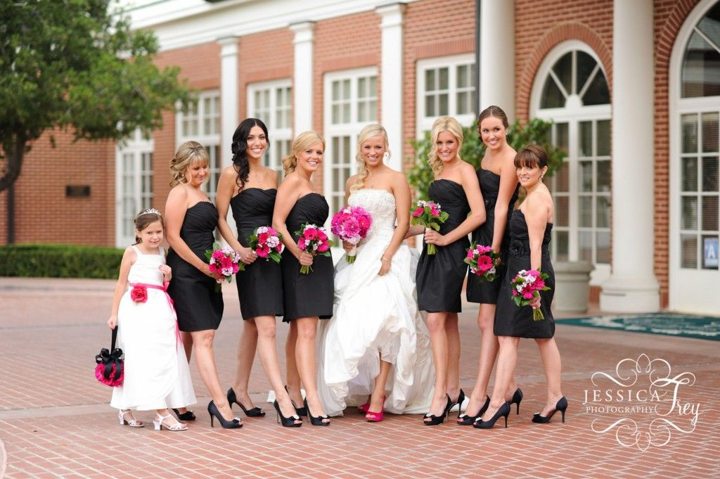 Really Liking Bridesmaids In Little Black Dresses But No Pink