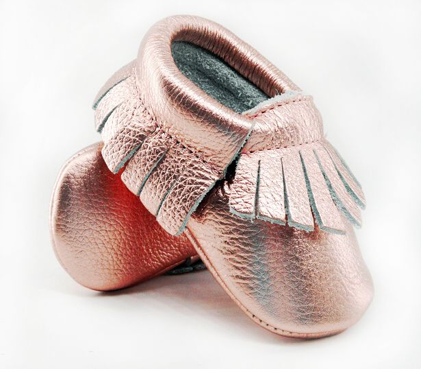 16 farbe Neue Glanz Rosa Echtem Leder Baby mokassins Erste Wanderer ...