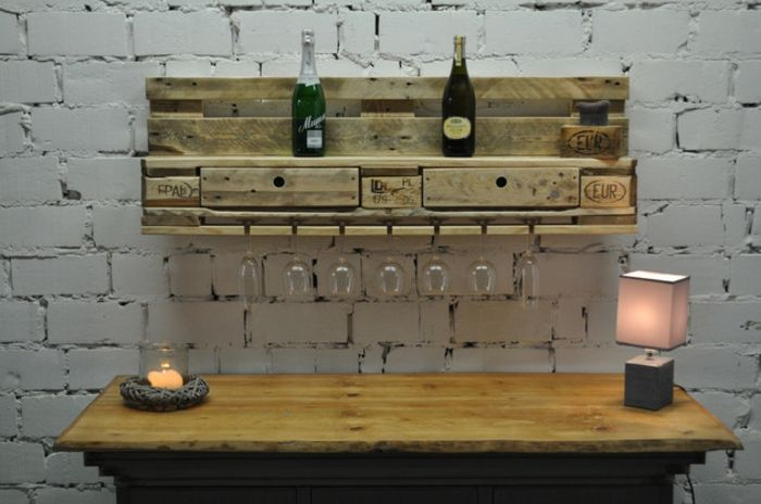 holzpaletten diy möbel aus paletten europaletten ideen DIY - Do - holzpaletten regal