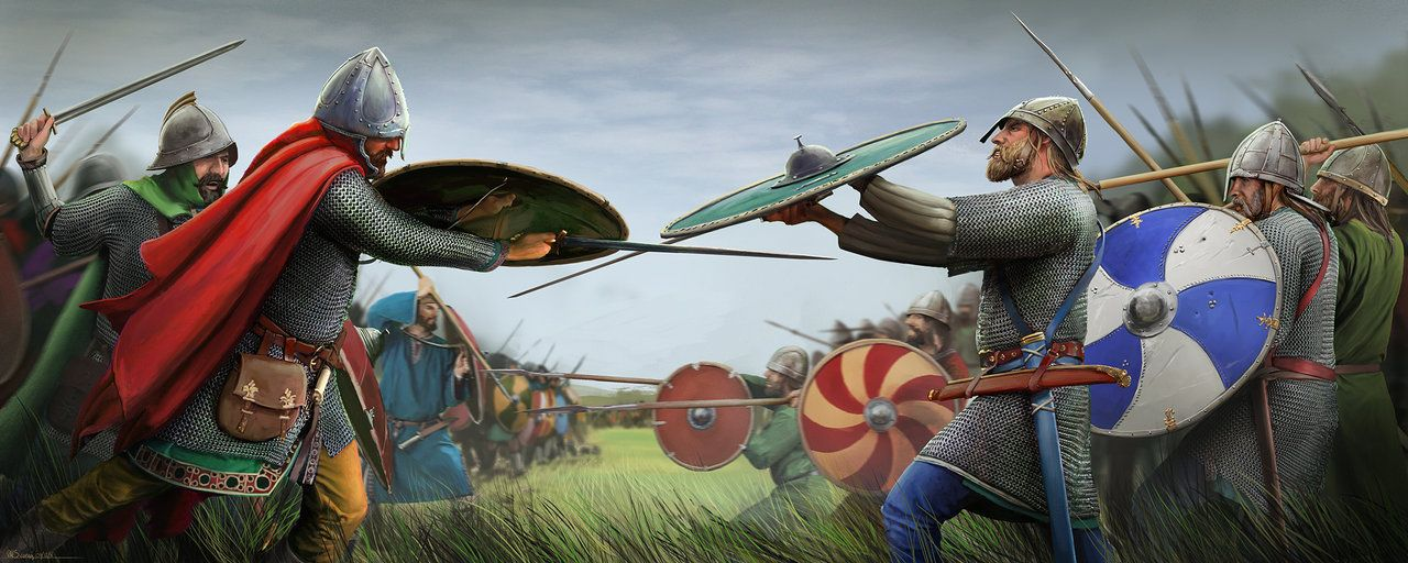 The Saxons fight the Carolingians in open battle. by RobbieMcSweeney on  DeviantArt | Wojownicy, Powstaniec