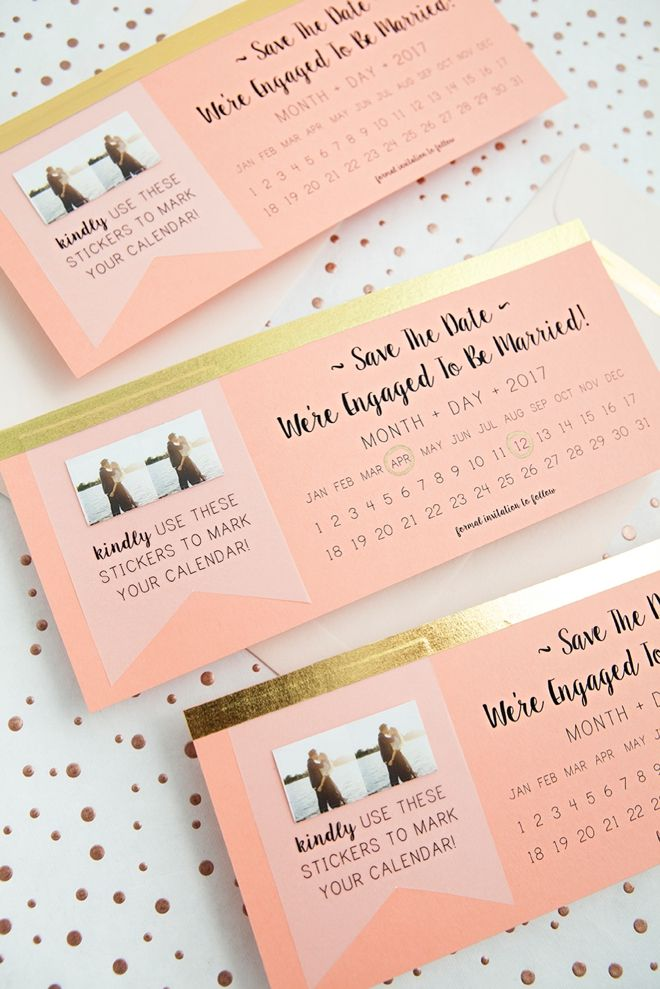 NEW, Free DIY Save The Dates With Calendar Stickers! Riccardi