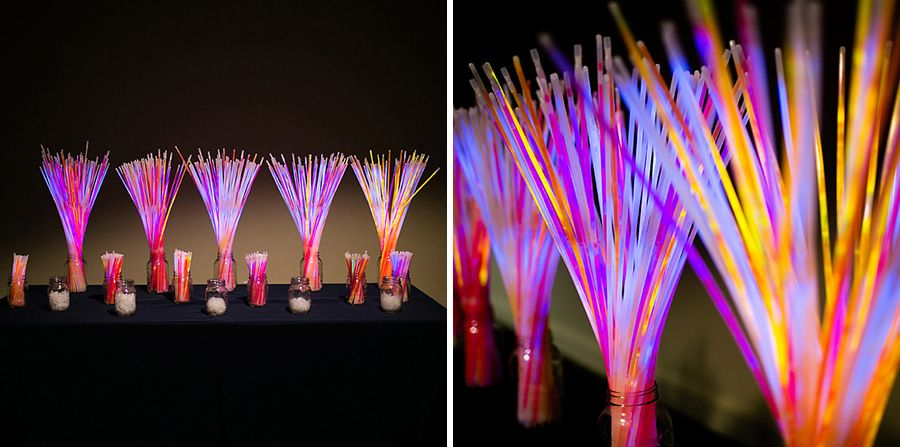Glow Necklaces and Bracelets - Set up as table decorations! //glowproducts.com/us/glownecklaces & Glow Necklaces and Bracelets - Set up as table decorations! https ...