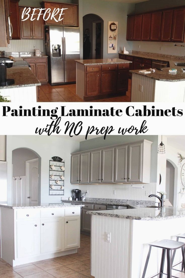 Painting Laminate Cabinets the right way without sanding ...