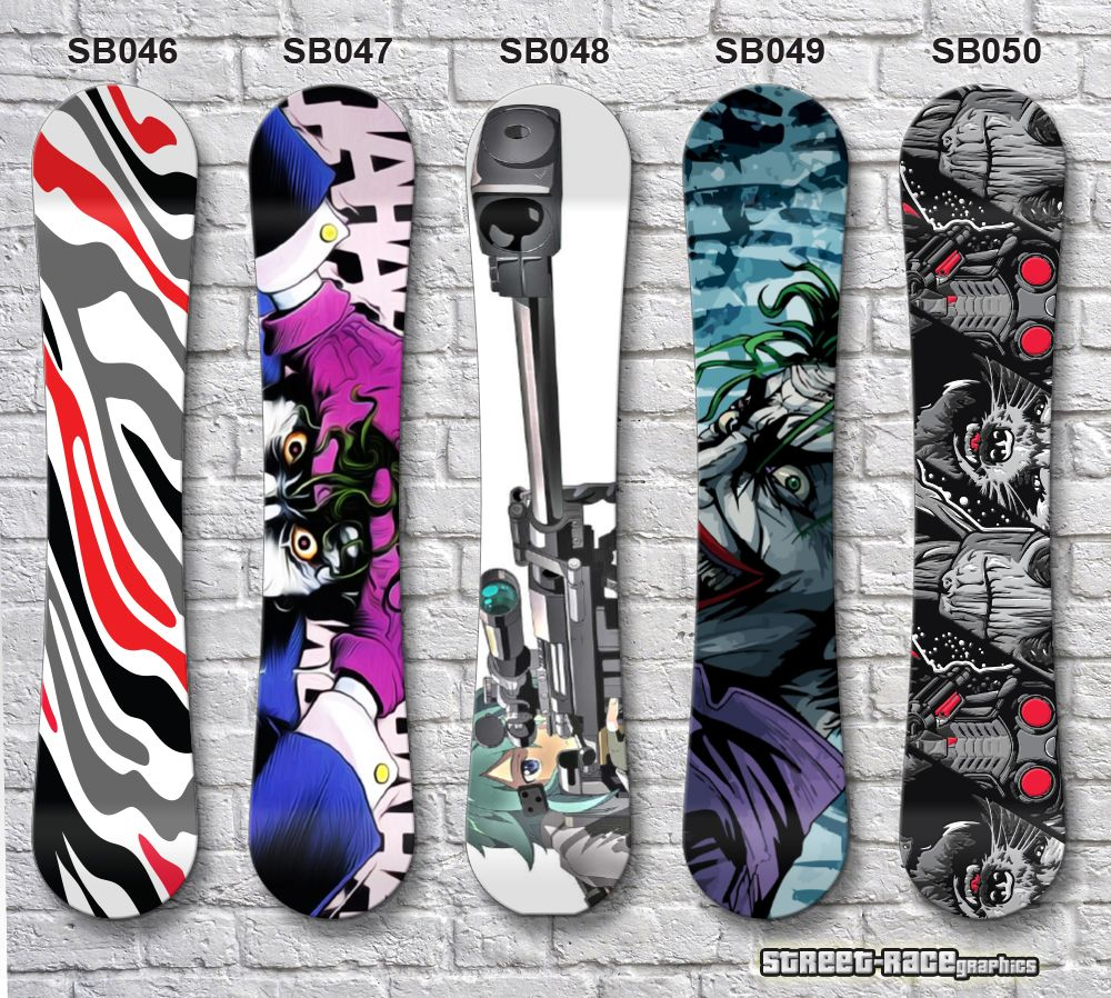 Printed & laminated air release (easyapply) Snowboard