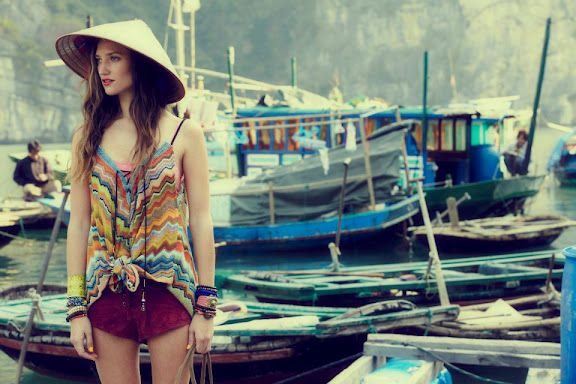 Free People lookbook for March shot in Vietnam