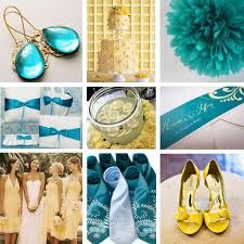 teal and gold wedding theme - Google Search
