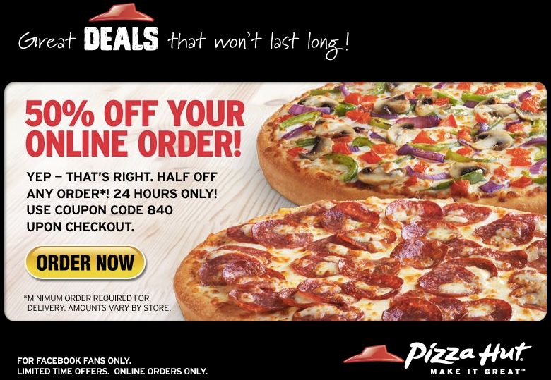Pizza Hut Canada Promo Code 50 Off Today Only Hot Pizza Hut Pizza Hut Coupon Printable Coupons
