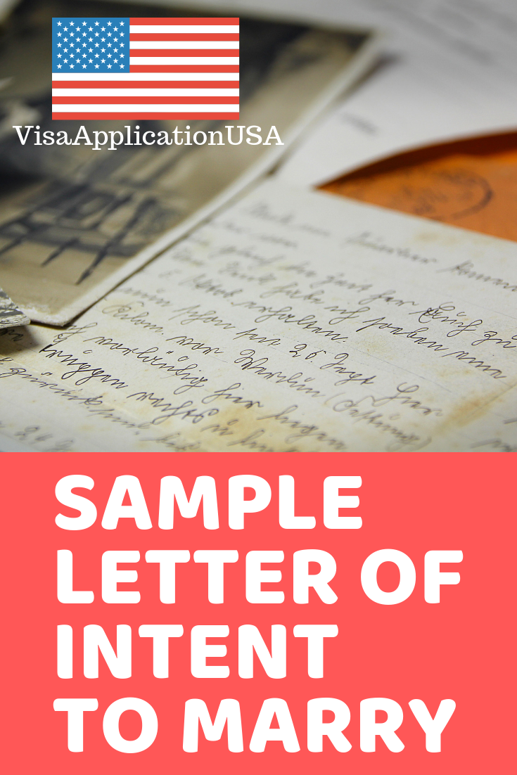 Sample Letter of Intent to Marry for K 40 Visa Applicants   Letter ...