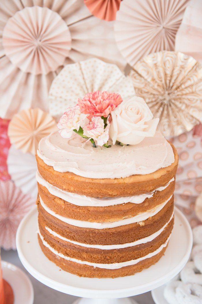 Peach Coral Vintage Birthday Party Vintage birthday parties