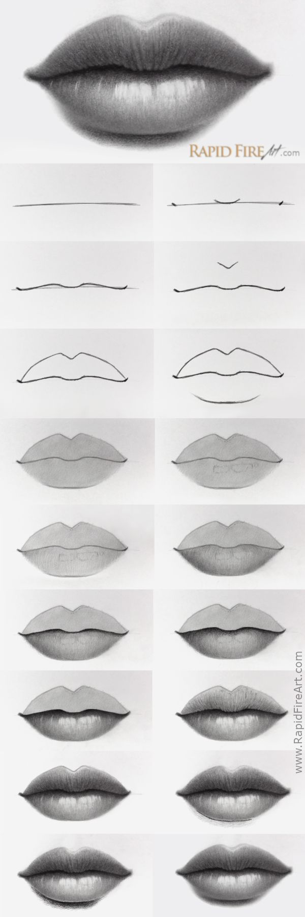 How to Draw Lips - #Draw #lips #watches