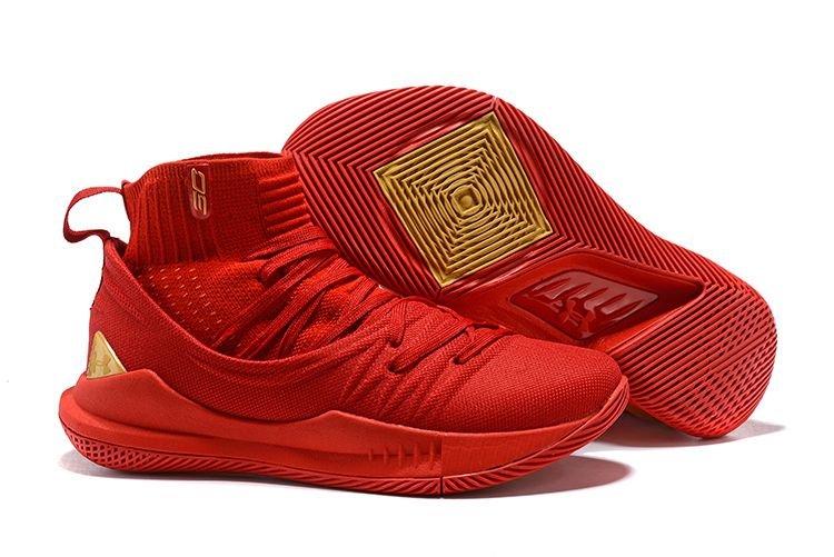 """vanidad a la deriva Sherlock Holmes  Under Armour Curry 5 High """"Chinese New Year"""" Red Gold Men's Shoes ..."""