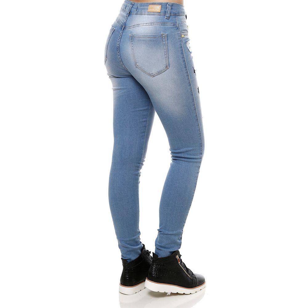 5e55f0b84 Calça Jeans Feminina Mokkai Azul - Lojas Pompeia