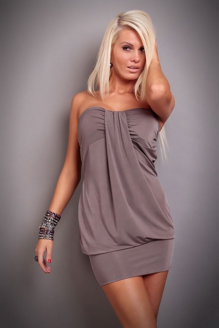 Boob tube mini dress
